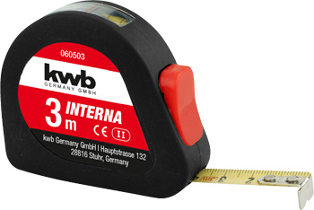 INTERNA steel tape measure with window
