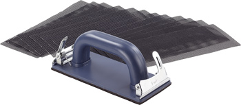Hand sander set, with 12 mesh sanding sheets