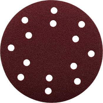 QUICK-STICK sanding discs for wood and metal, aluminium oxide, Ø 150 mm, punched