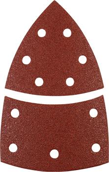 QUICK-STICK Schleifdreiecke, HOLZ & METALL, Edelkorund, 100 x 62, 93 mm