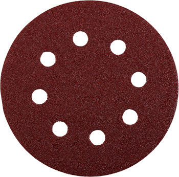 QUICK-STICK sanding discs for wood and metal, aluminium oxide, Ø 125 mm, punched