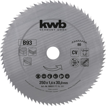Profiled timber circular saw blades Ø 250 up to Ø 400 mm