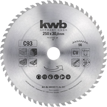Firewood circular saw blades Ø 250 up to Ø 400 mm