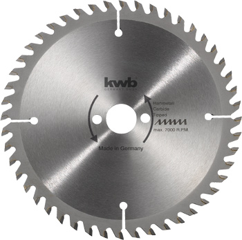 Circular saw blades for bench- and table saws Ø 250 mm