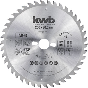 Chipboard circular saw blades Ø 250 up to Ø 300 mm