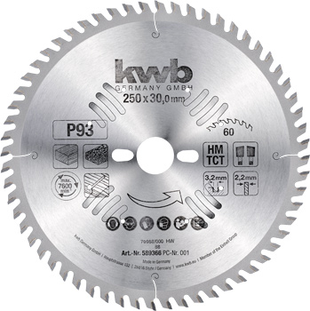 Circular saw blades Ø 250 up to 305 mm