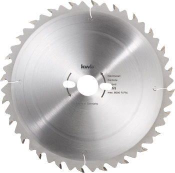 Circular saw blades for bench- and table saws Ø 250 up to Ø 500 mm