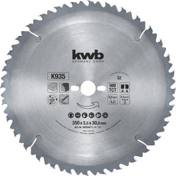Kreissägeblatt für Bau- und Tischkreissägen ø 350 mm