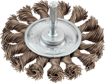 Wheel brush, extra strong, HSS steel wire, twist knot, ø 70 mm
