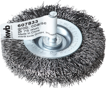 Wheel brush, double thickness, HSS steel wire, crimped