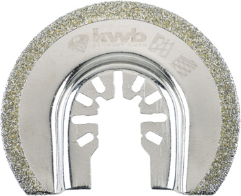 Diamond coated saw blade, half-round