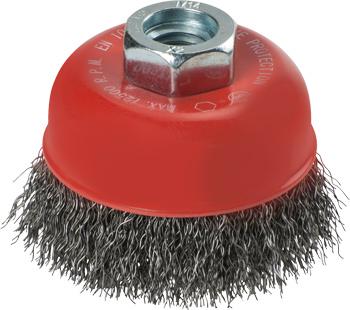 AGGRESSO-FLEX® Topfbürste, Stahldraht, gewellt