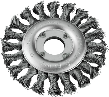 AGGRESSO-FLEX® Scheibenbürste, Stahldraht, gezopft