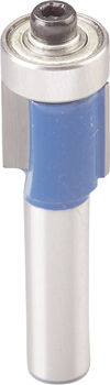 Flush trim router bit TCT, with bearing guide