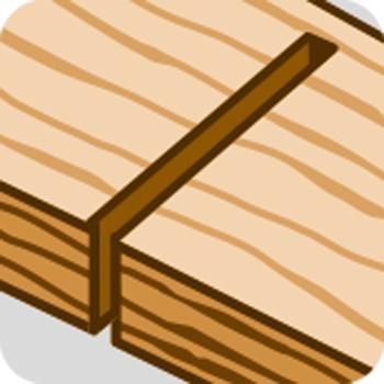 Feiner Schnitt Holz