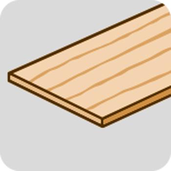 dünnes Holz