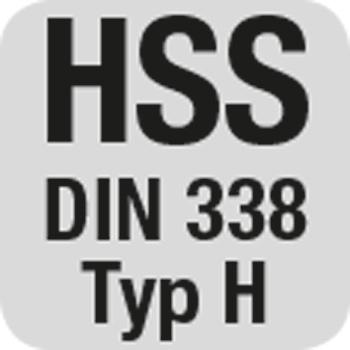 HSS DIN 338 Typ H