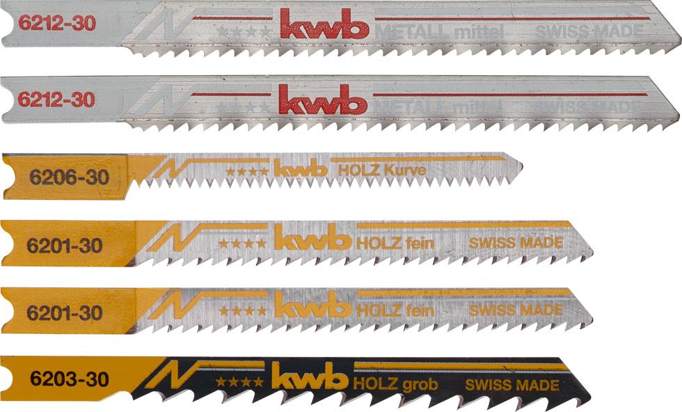 para sierras de 127 mm de largo, 25 mm de ancho kwb by Einhell Juego de 5 hojas de sierra de calar