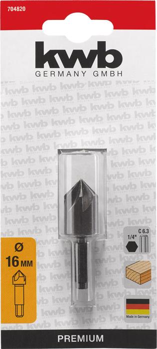 1//4 Zoll Sechskant C 6.3 KWB 7048-40 Senker HSS