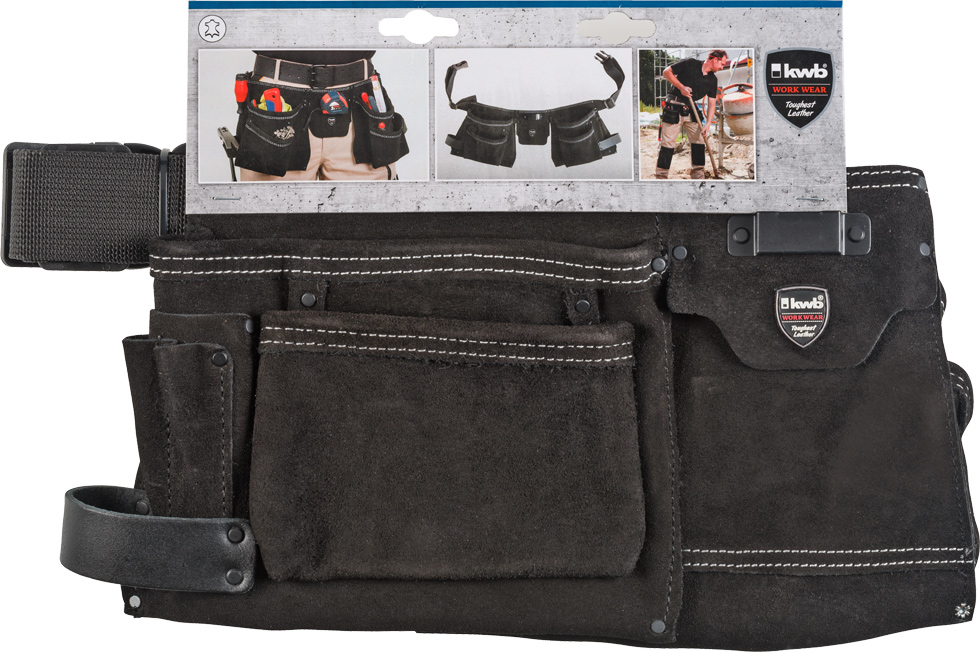 pochette ceinture porte outils 2 parties cuir avec ceinture en nylon pochettes ceinture. Black Bedroom Furniture Sets. Home Design Ideas